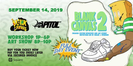 BLANK CANVAS 2: Sneaker Workshop tickets