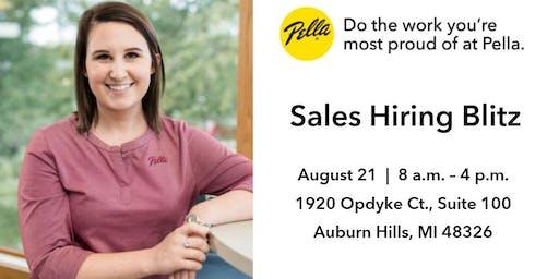 Pella Windows & Doors Sales Hiring Event