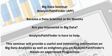 Data Science and Big Data Seminar tickets