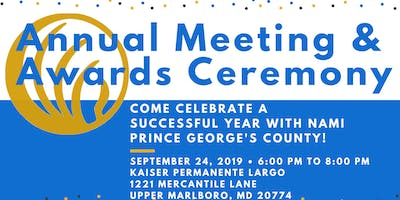 NAMI PGC Presents: Annual Meeting & Awards Ceremony 2019