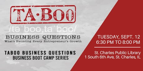 Taboo Business Questions:  Marketing Boot Camp tickets