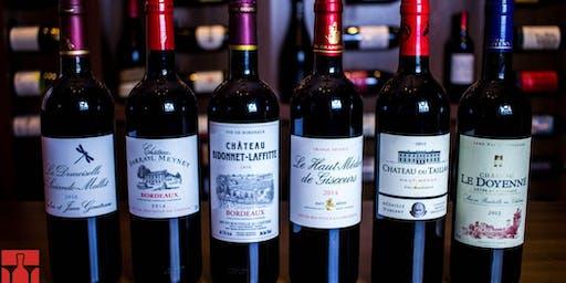 Degustação especial de Bordeaux - mês dos pais
