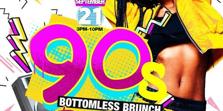 Sat Sept. 21st Bottomless 90s Brunch & Day Party {TreeCity} • No Cover before 5 PM with Eventbrite RSVP • $40 Bottomless Brunch til 6 PM • Hookah Available tickets