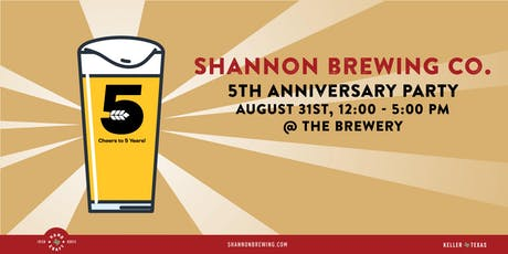 Shannon Brewery 5th Anniversary Party tickets