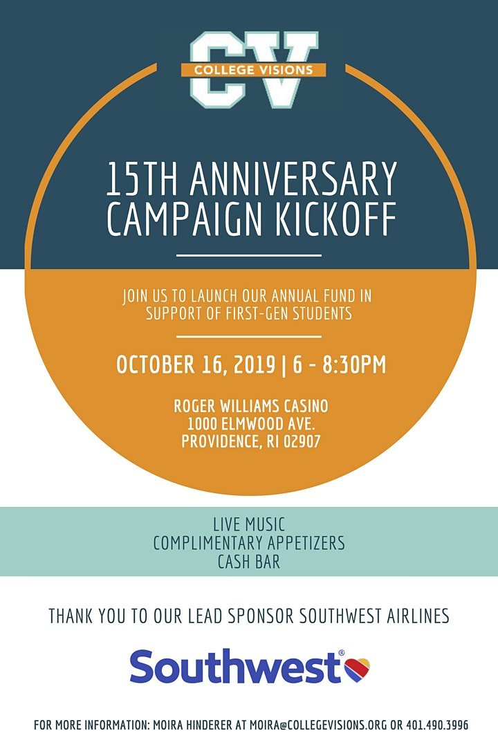 College Visions Annual Campaign Kickoff Party image