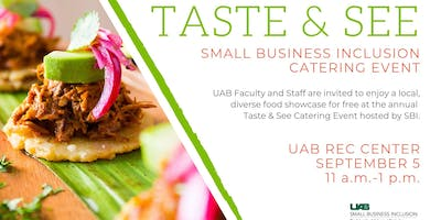 2019 UAB Taste & See Mini Catering Event-Internal UAB Only!!
