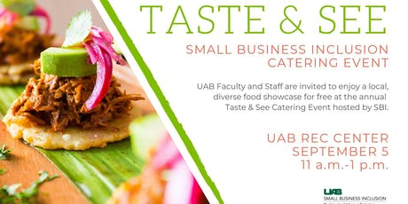 2019 UAB Taste & See Mini Catering Event-Internal UAB Only!! tickets
