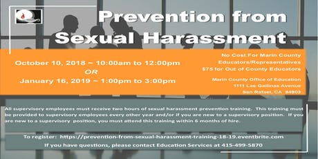 Prevention from Sexual Harassment-Marin County Educators tickets