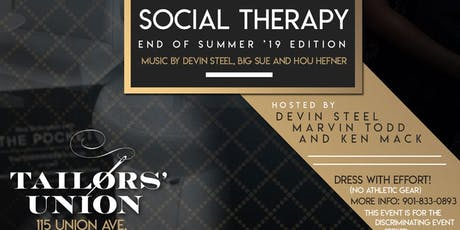 Social Therapy end of summer '19 Edition! tickets
