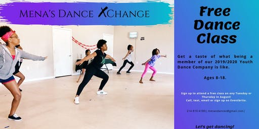 Free Trial Dance Class for Youth Dance Team- Mena's Dance Xchange