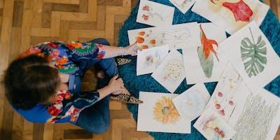 Aula Experimental:  A mão livre - Desenho e Aquarela