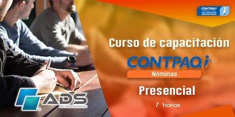 Curso Presencial de CONTPAQ i® Nóminas entradas