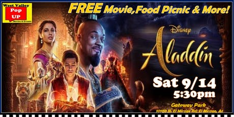A Gateway Park FREE SplashPad Movie & Food Truck Picnic - Sat 9/14 - Aladdin! tickets
