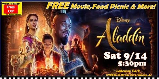 A Gateway Park FREE SplashPad Movie & Food Truck Picnic - Sat 9/14 - Aladdin!