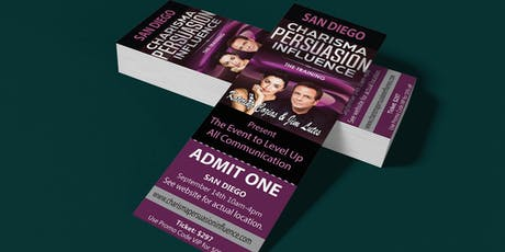 Charisma Persuasion Influence San Diego tickets