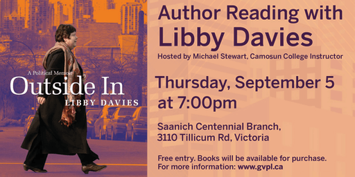 "Author Reading: ""Outside In: A Political Memoir"" with Libby Davies"