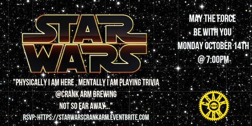 Star Wars Trivia at Crank Arm Brewing