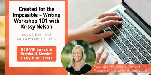 VIP Lunch & Breakout Session: Writing Workshop 101 w Krissy Nelson