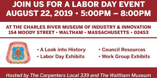Carpenters Local 339 Labor Day Event - Thursday August 22, 2019