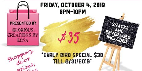 Shop, Sip and Paint tickets