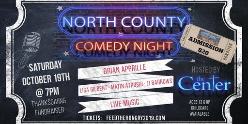 Feed the Hungry @ Thanksgiving - North County Comedy Night Fundraiser