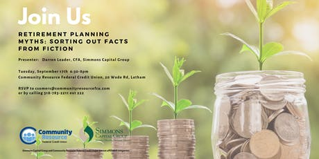 Let's bust some retirement planning myths! tickets