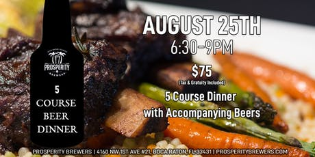 5 Course Beer Dinner at Prosperity Brewers tickets