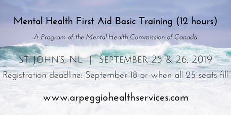 Mental Health First Aid Basic Training - St. John's, NL - Sept. 25 & 26, 2019 tickets