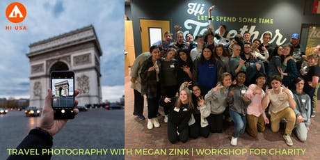 Travel Photography with Megan Zink: Workshop for Charity tickets