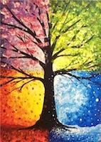 4 Seasons Tree Paint Nite