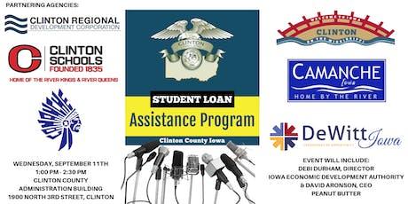 Clinton County Community Student Loan Assistance Program Press Event tickets