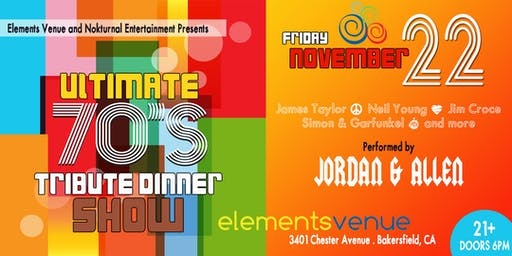 Ultimate 70's Tribute Dinner Show