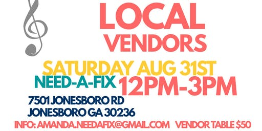 Need A Fix Pop Up Vendor