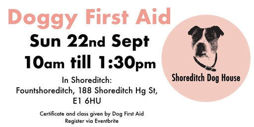 Dog First Aid with Shoreditch Dog House