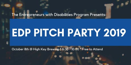 EDP Pitch Party and Networking Event tickets