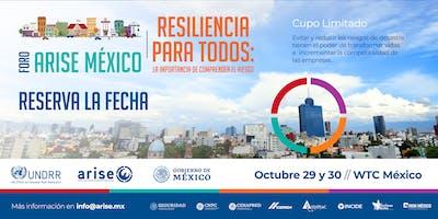 FORO ARISE MÉXICO - RESILIENCIA PARA TODOS. La imp