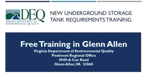 Underground Storage Tank Regulation Training - Glenn Allen