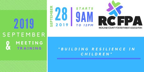 RCFPA September 2019 Meeting & Training tickets