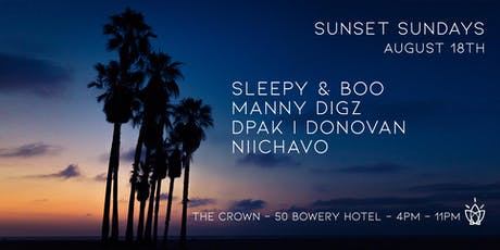 Sunset Sundays - Sleepy & Boo + guests - the Crown tickets