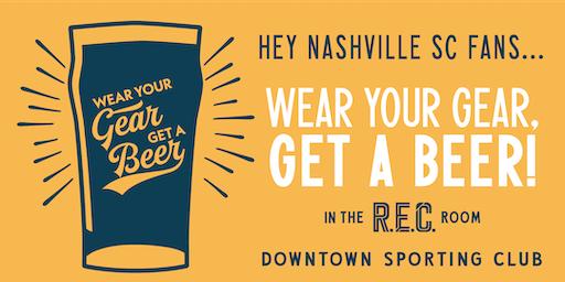 Wear Your Gear, Get a Beer: Nashville SC