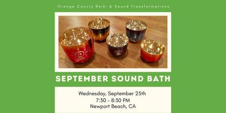 September Sound Bath tickets