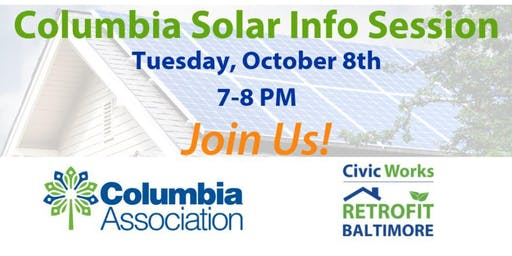 Columbia Solar Info Session - Join Us!