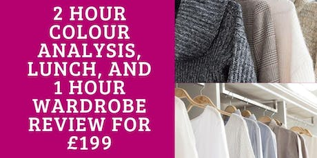 Colour Analysis with Wardrobe Review and Lunch tickets