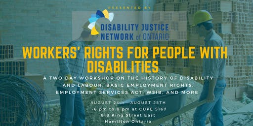 Workers' Rights for People with Disabilities (2 Day Workshop)