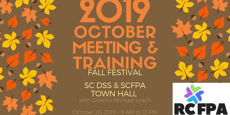 RCFPA October 2019 Fall Festival, Meeting & Training tickets