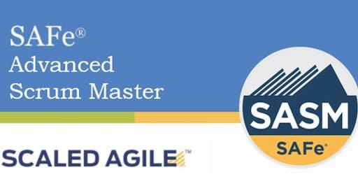 SAFe® Advanced Scrum Master with SASM Certification San Antonio,Texas (Weekend)