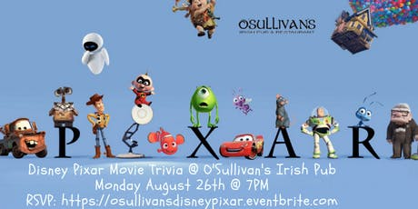 Disney Pixar Movie Trivia at O'Sullivan's Irish Pub tickets