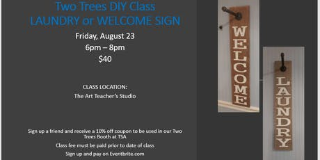 Two Trees DIY - Laundry or Welcome Holder Sign tickets