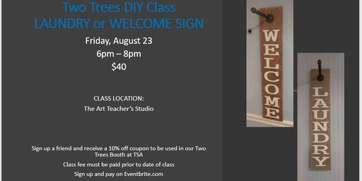Two Trees DIY - Laundry or Welcome Holder Sign