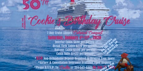 Cookie's 50th Birthday Cruise tickets